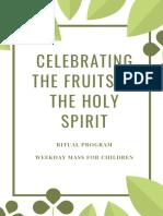 celebrating the fruits of the holy spirit