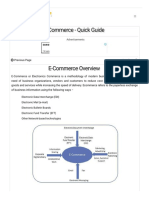 E-Commerce Quick Guide