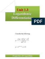 1.3. Logarithmic Differentiation