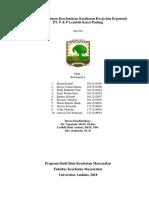 KELOMPOK 2 - Laporan SKM3 dan Ergonomi PT. P&P Lembah Karet 2018.docx