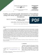 VIII. Benzaldehid GC