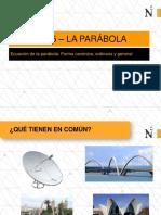 Ecuacion de La Parabola