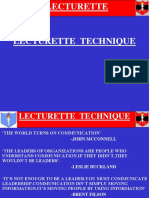 Lecturette Technique