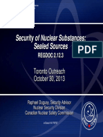 o Raphael Duguay – Security of Nuclear Substances – Sealed Sources REGDOC 2.12.13