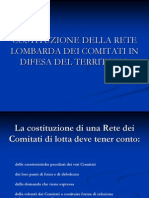 Costituzione della Rete lombarda dei Comitati in Difesa del Territorio