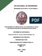 INFORME DE SUFICIENCIA-Procedimiento de Medicion de las Tenciones de Toque y de Paso en una Red de Distribucion Electrica-Pag75.pdf