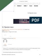 14.1 Speaker Issue - TechTablets