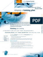 11 Developing a Training Plan 0