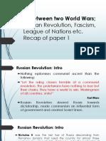 1.IR Between Two World Wars