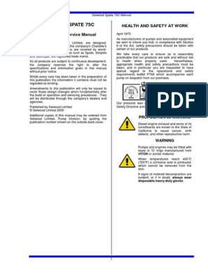 PD75_Manual Inglês pdf | Pump | Valve
