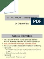 PY1PR1 Stats Lecture 1 Handout