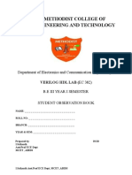 Student Verilog HDL LAB MANUAL FOR BE/B.TECH ECE STUDENTS