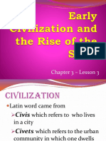 C3-L3 Early Civilization and the Rise of the State