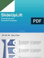 SlideUpLift | 30 60-90 Day Plan PowerPoint Templates | 30-60-90 Day Plan PPT Slide Designs