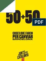Programa electoral de Junts per Catalunya per les eleccions municipals de Barcelona-2019