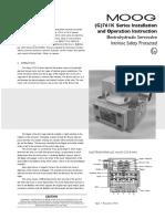 Moog Explosionproof ServoValve G761K Series Manual En