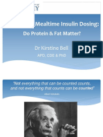 Optimising Mealtime Insulin Dosing