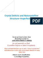 Unit II Crystal Imperfections