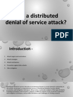 What is a Distributed Denial of Service Attack