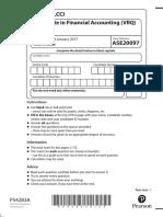 LCCI L3 Financial Accounting ASE20097 Jan 2017