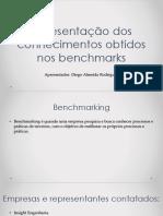 Apresentação Dos Conhecimentos Obtidos Nos Benchmarks