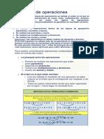 Jerarquía de Operaciones Matematicas