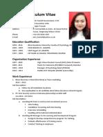 Curriculum Vitae Arin Fazriah