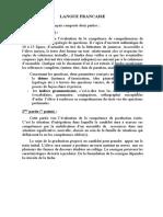 موضوع تجريبي في اللغة الفرنسية للتحضير لشهادة التعليم المتوسط 1