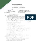 موضوع تجريبي في اللغة الفرنسية للتحضير لشهادة التعليم المتوسط 3