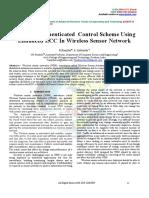 Mutually Authenticated Control Scheme Using Enhanced ECC in Wireless Sensor Network