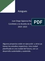 Juan Diego Sigüenza Rojas Candidato a la Alcaldía de Azogues