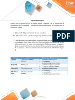 Paso 3 Actividad Individual- Preparación de Presupuestos Para La Planeación y El Control