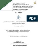 Ponencia 28 Marzo 2019 Foro interno para la Transformación de las Escuelas Normales Públicas
