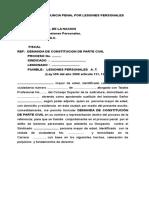 Parte Civil Lesiones Personales a. t. 2
