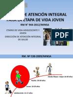 Atención Integral de Salud Del Adulto Joven. Lineamientos