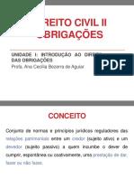 DIREITO CIVIL II - Unidade I Introducao Ao Direito Das Obrig