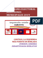 Programa Municipal Izquierda Unida-Ezkerra (Burlada) 2019