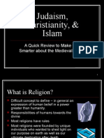 Islam, Christianity, & Judaism