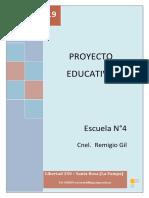 PROYECTO EDUCATIVO 2019