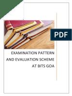 Examination Pattern and Evaluation Scheme at BITS Goa