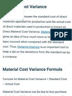 Material Cost Variance Vijay Hooda