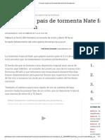 Cercanía Al País de Tormenta Nate Favoreció Devastación