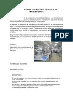 Clasificación de Los Materiales Usados en Microbiología