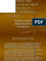 Management-new Product Developmental Stages