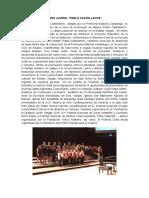 Reseña Coro Juvenil Pablo Castellanos