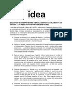 Declaración de IDEA 100519