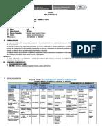 Sílabo Investigacion II - Inicial Primaria - Prudencio