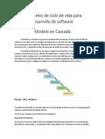 3 Modelos de Ciclo de Vida Para Desarrollo de Software