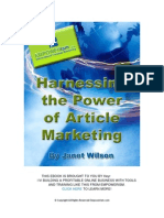 Harness the Power of Article Marketing