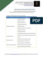 Klasifikasi Sertifikat Badan Usaha Penunjang Tenaga Listrik